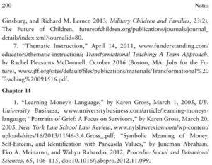 "Sitasi terhadap ""Symbolic Meaning of Money, Self-Esteem, and Identification with Pancasila Values"" dalam buku Karen Gross (2017)"